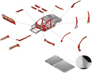 激光焊接头焊接车身